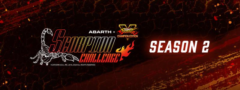 アバルト x ストリートファイターV – SCORPION CHALLENGE SEASON 2 大会結果のお知らせ